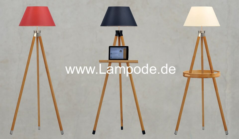 stehlampe aus holz gamma lampode. Black Bedroom Furniture Sets. Home Design Ideas